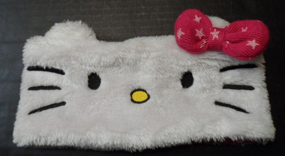 Hello Kitty Girls Headband Faux Fur Toddler Youth Kids One Size  #HelloKitty