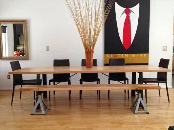 Modern Butcher Block Dining Table 2200 Beverly Hills