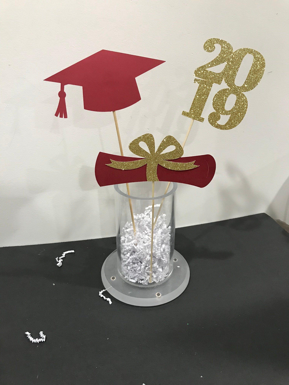 Graduation party decorations, 2020 Graduation Centerpiece ...