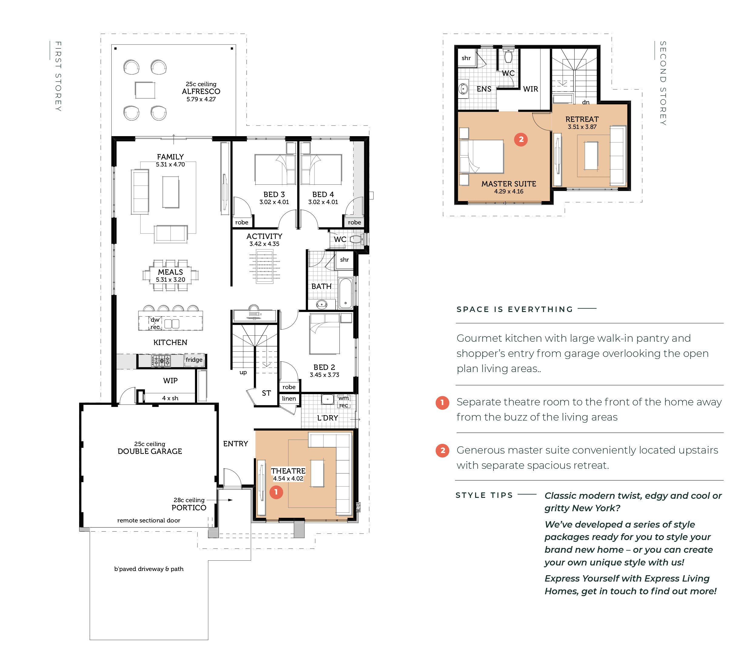 The Ava Express Living Homes Floor Plans How To Plan Theatre Room