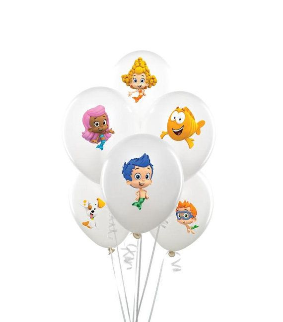 Bubble guppies balloon sticker INSTANT DOWNLOAD, bubble guppies ...