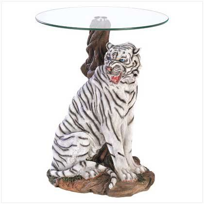 White Tiger Sculptural Base Home Accent Gl Top Table Click Image Twice For More Info See A Larger Selection Of Coffee Tables At Http