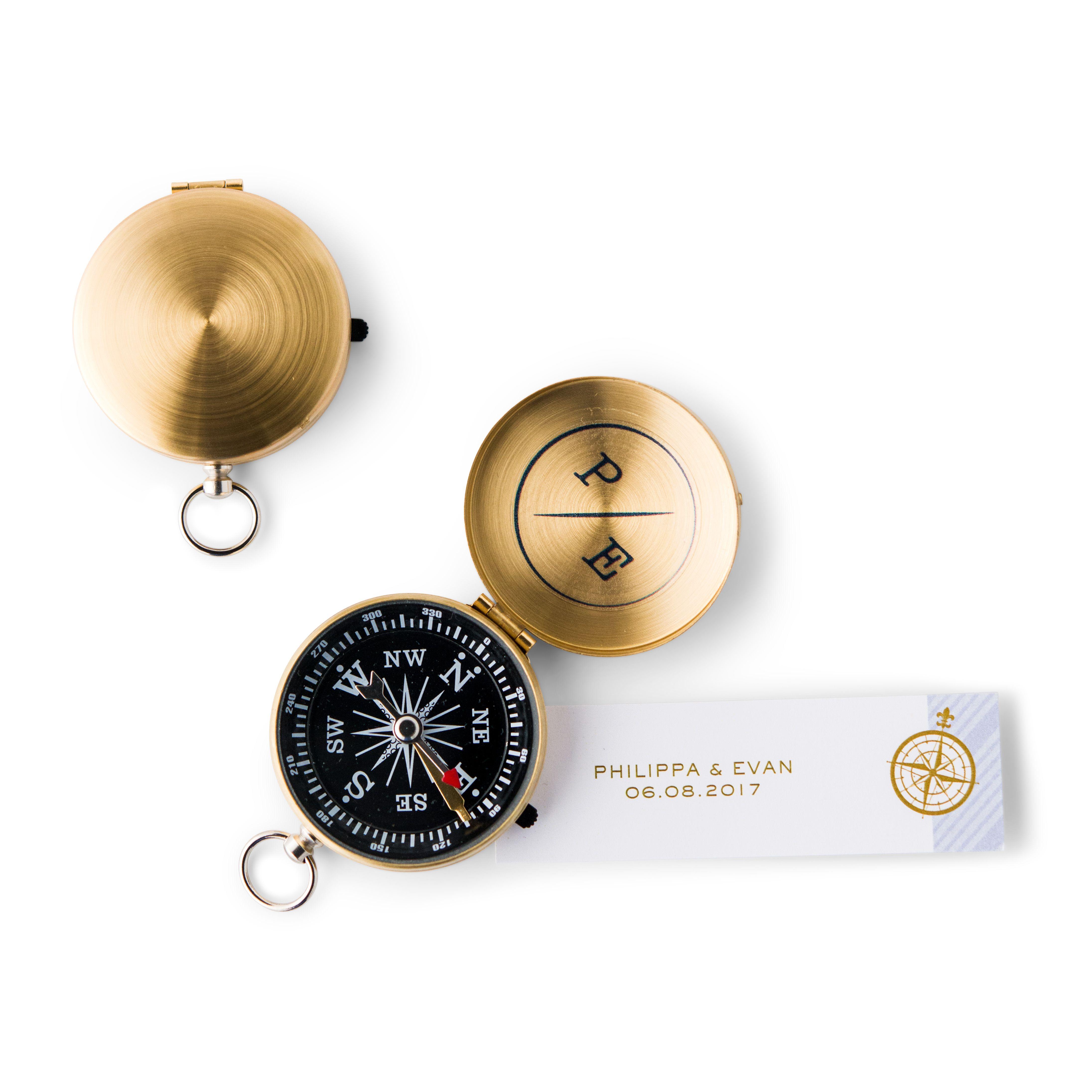 Gold Compass Wedding Favor | Compass, Favors and Nautical wedding favors