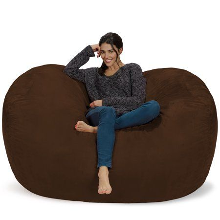 Enjoyable Chill Sack 6 Ft Large Bean Bag Lounger Multiple Colors Pabps2019 Chair Design Images Pabps2019Com