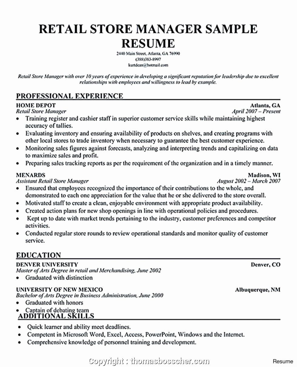 Retail Store Manager Resumes Beautiful Modern Retail Store Manager Resume India Resumes Store Retail Resume Examples Resume Examples Manager Resume