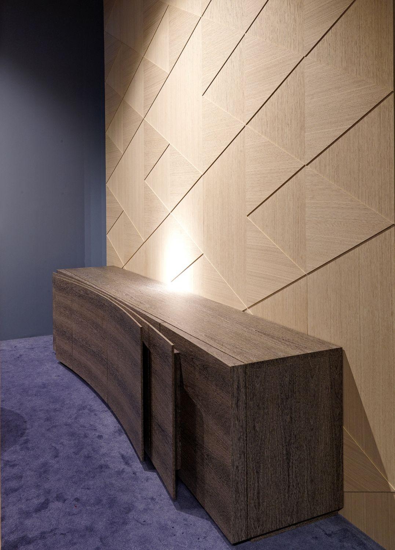 Emmemobili Lobby Interior Design Wall Paneling Hardwood Design