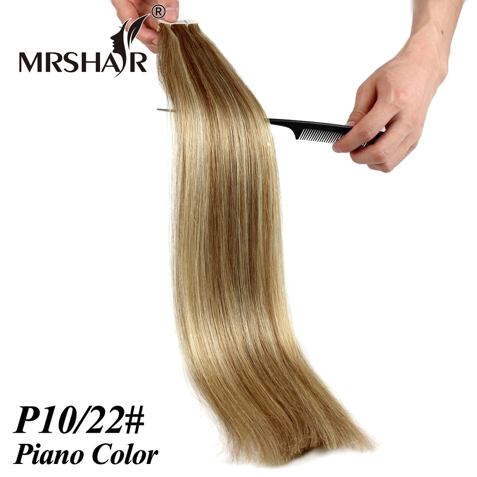 3998 Watch Now 1022 Piano Tape In Human Hair Extensions 20pcs