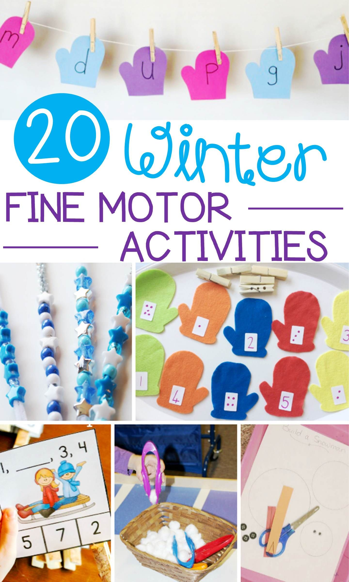 20 Wonderful Winter Fine Motor Activities For Early