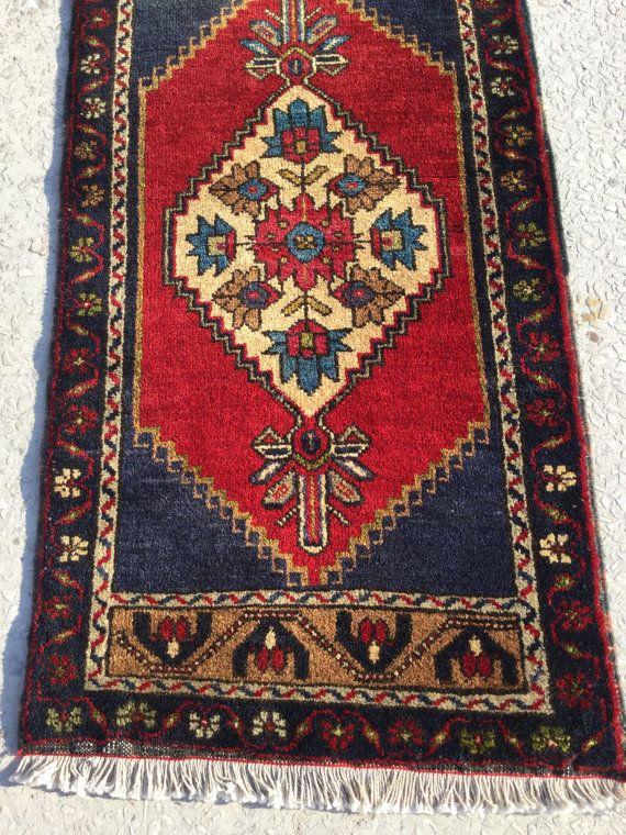 105x54 Cm 3 5x1 8 Feet Small Carpet Rug Vintage Turkish Carpet Rug Small Rug Boho Rug Bath Mat Floor Carpet Handmade Rug Pastel Rug Carpet How To Clean Carpet