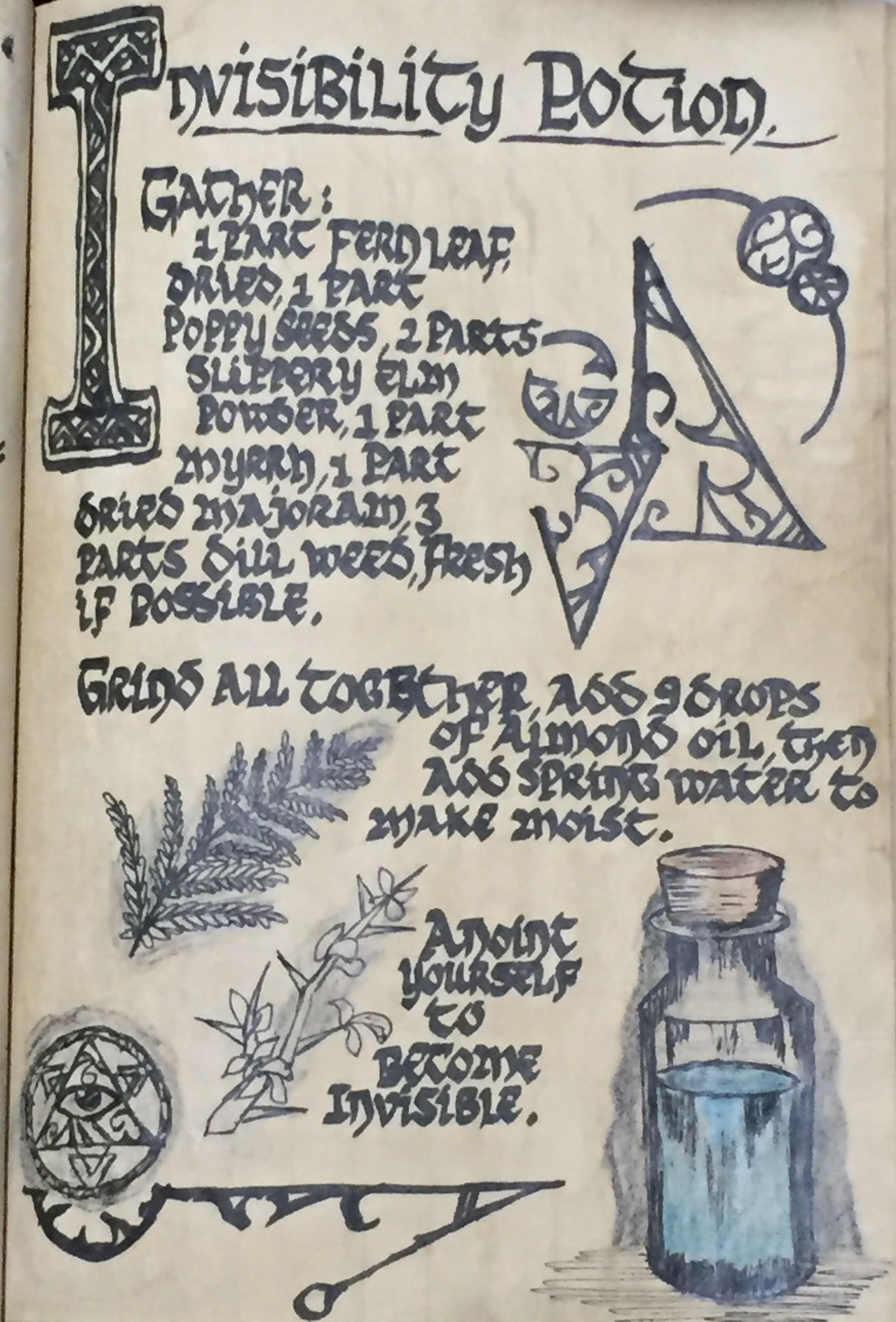 Invisibility Potion Wiccan Spell Book Witch Spell Book Witchcraft Spell Books
