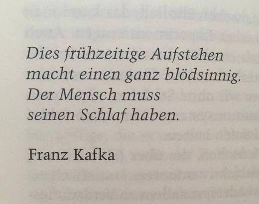Kafka Findet Fruh Aufstehen Auch Doof Mehr