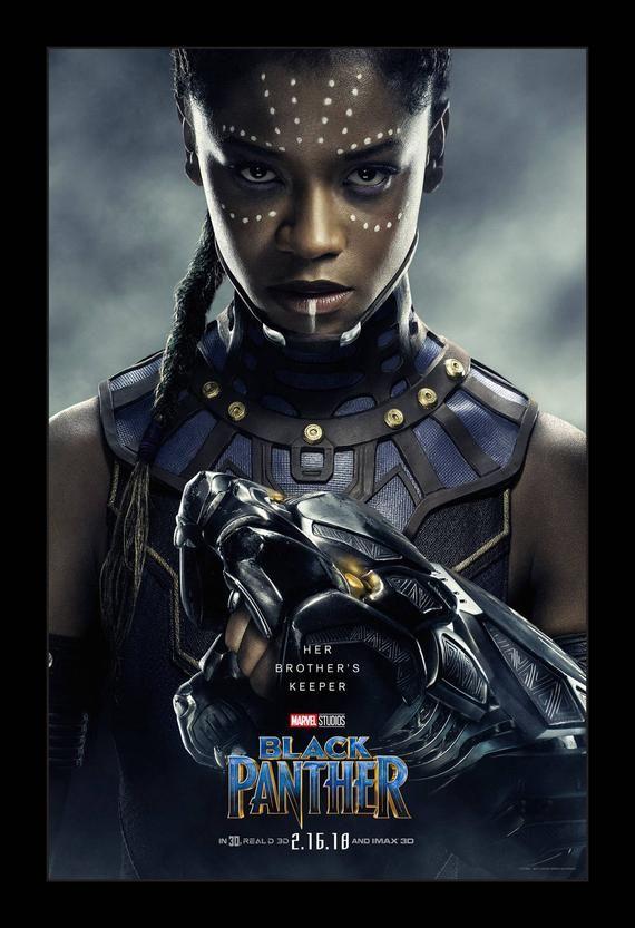 Black Panther - 11x17 Framed Movie Poster