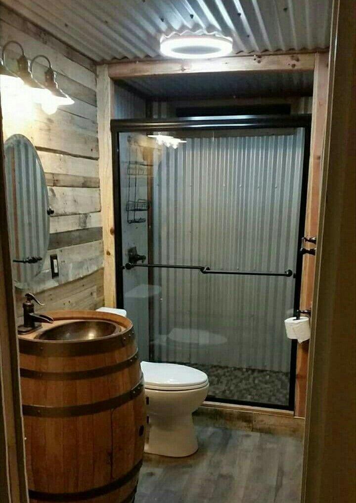 30 Fantastische Ideen, Um Badezimmer Im Rustikalen Stil Hinzuzufügen   Neue  Dekorationsideen