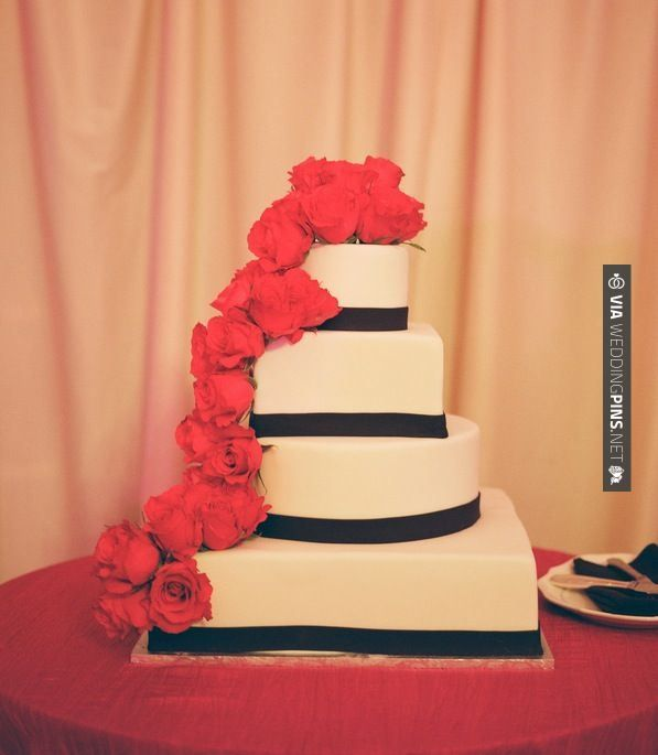 Wow! - Cake (Frame 36 Photography)   CHECK OUT MORE GREAT RED WEDDING IDEAS AT WEDDINGPINS.NET   #weddings #wedding #red #redwedding #thecolorred #events #forweddings #ilovered #purple #fire #bright #hot #love #romance #valentines