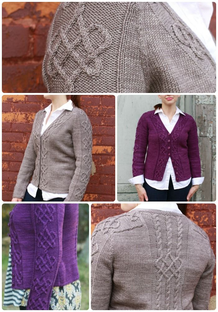 Cable Knit Cardigan; Heart On Your Sleeve by Fiona Ellis   Fiona ...
