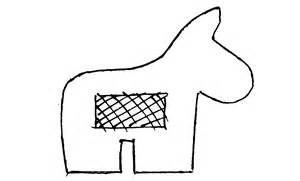 Mini Donkey Pinata Template Printable