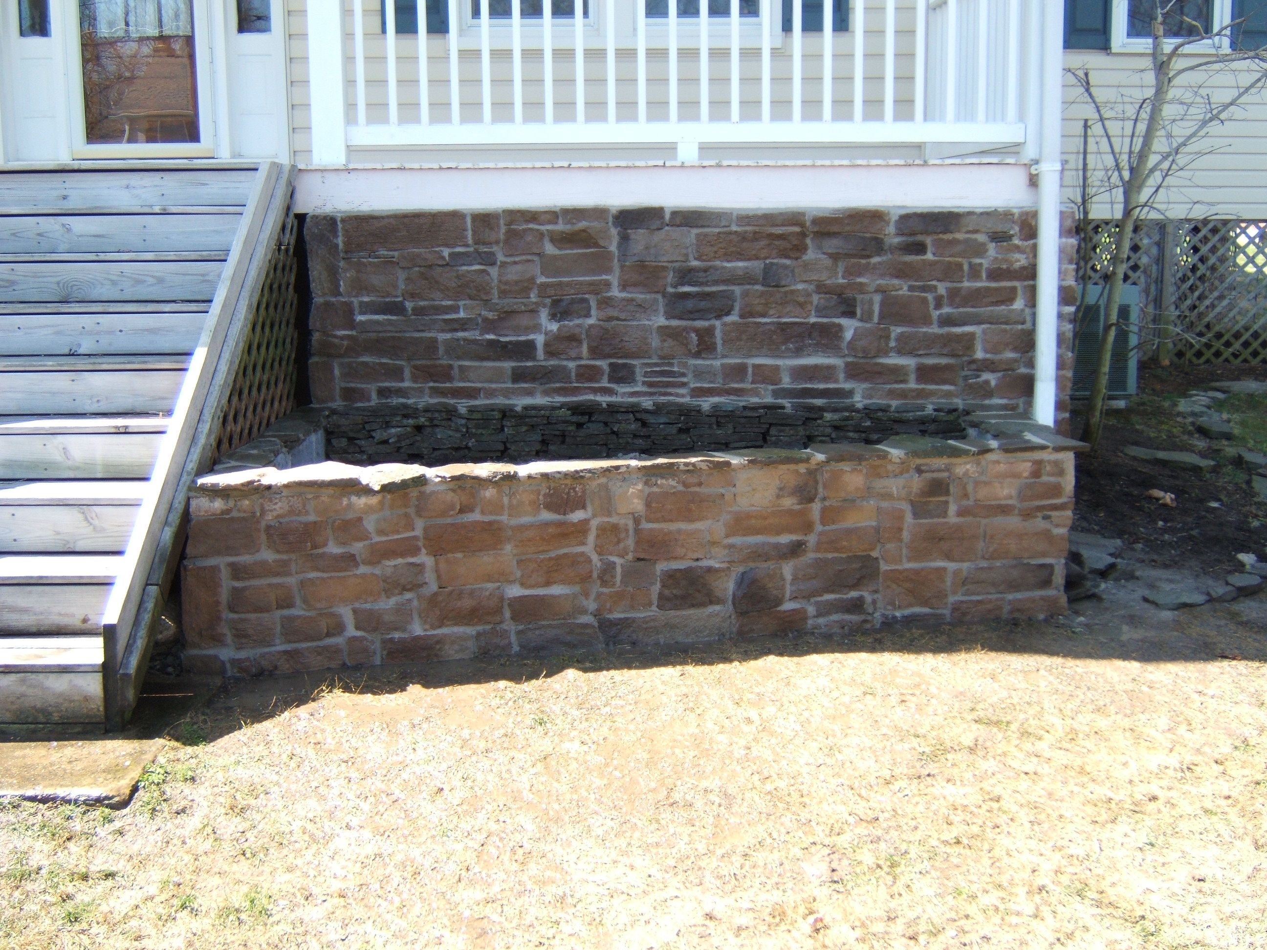 Porch Skirting With Rocks Stone Veneer Porch Didn T Think Of