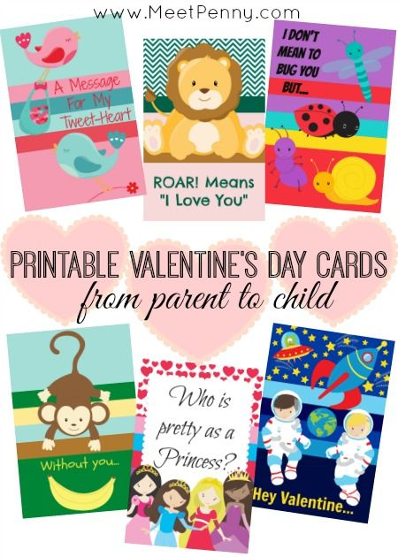 Printable Valentines Day Cards From Parent To Child Meet Penny Printable Valentines Day Cards Valentines Printables Free Valentine Day Cards