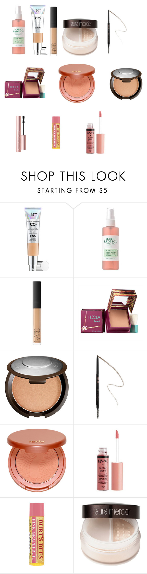 """Everyday Routine"" by ashleybrooke-iii ❤ liked on Polyvore featuring beauty, It Cosmetics, NARS Cosmetics, Hoola, Becca, Anastasia, tarte, Charlotte Russe, Burt's Bees and Laura Mercier"