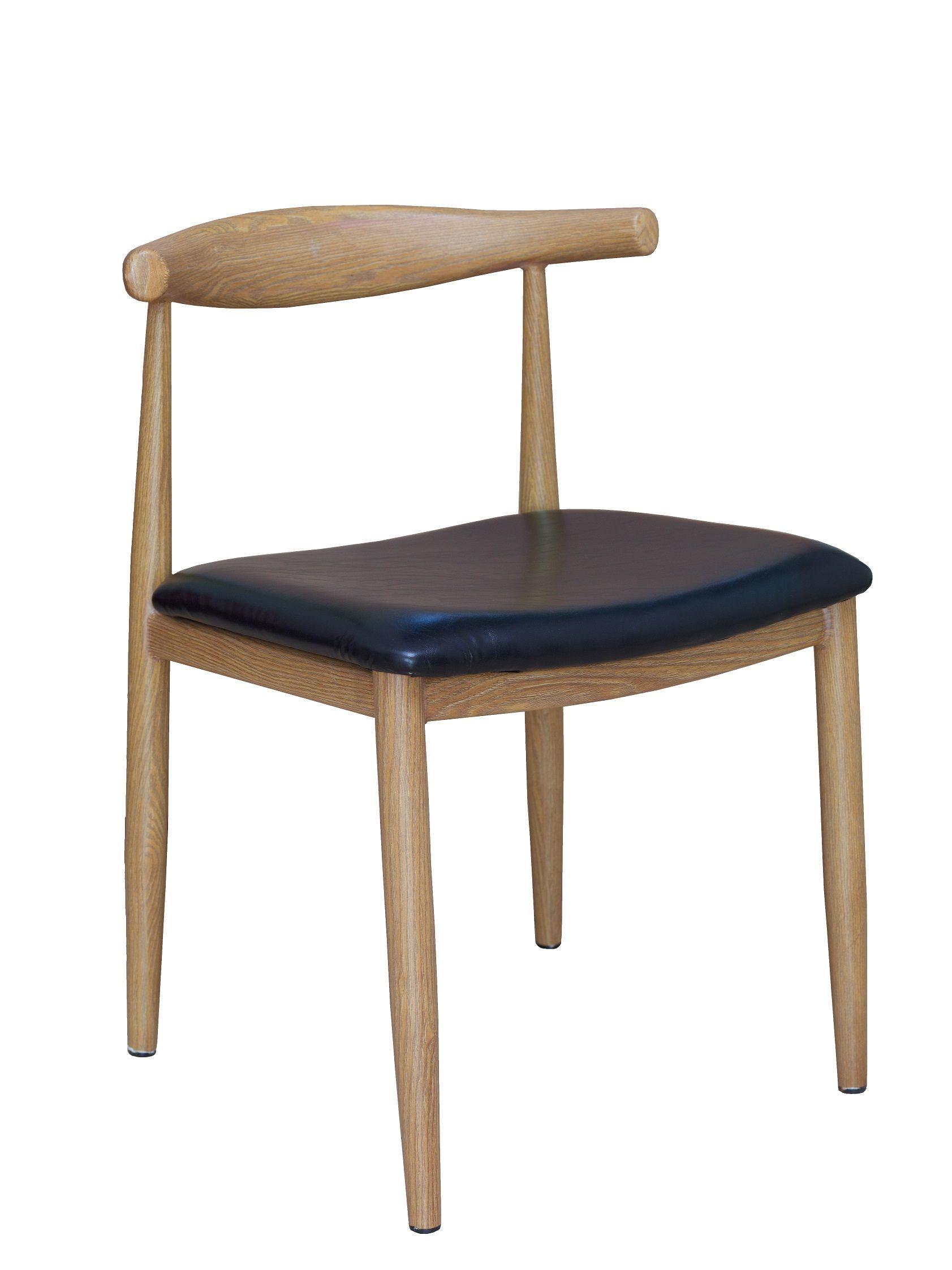restaurant furniture natural grain walnut finish metal chair w