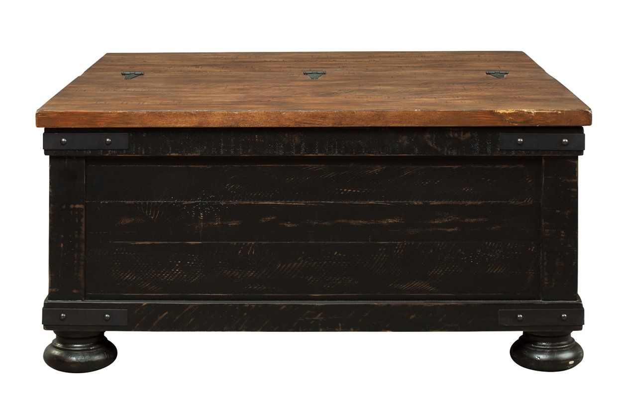 Valebeck Coffee Table With Lift Top Coffee Table Signature