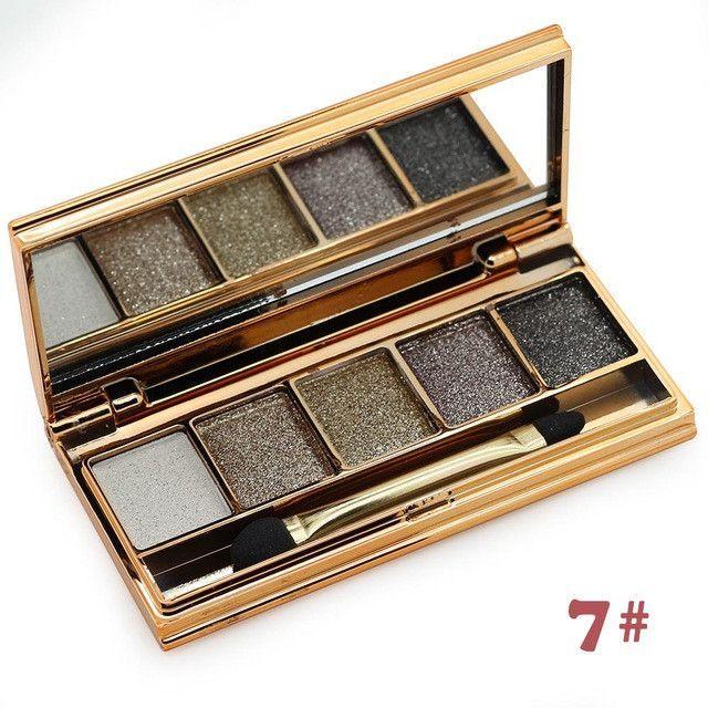 5 Color Surper Flash Diamond Eyeshadow Palette Glitter Mineral Smoky Makeup Eye Shadow Palette
