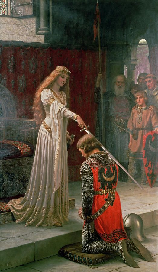 The Accolade Painting - Edmund Blair Leighton.. Picture in our living room