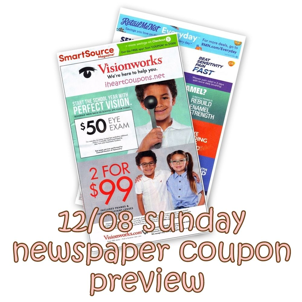 12 08 Sunday Newspaper Coupon Preview Newspaper Coupon Sunday Newspaper Coupons Sunday Newspaper