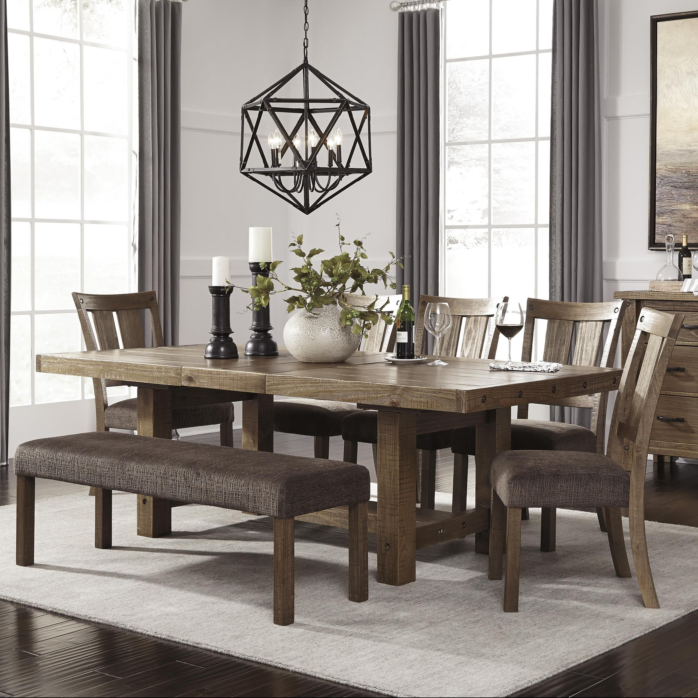 Best Tamilo 7 Piece Table Chair Set With Bench By Signature 400 x 300