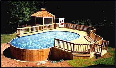 Pin on pretty above ground pools - Wood above ground pool ...