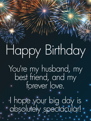 To My Forever Love Happy Birthday Card For Husband Hes So Many
