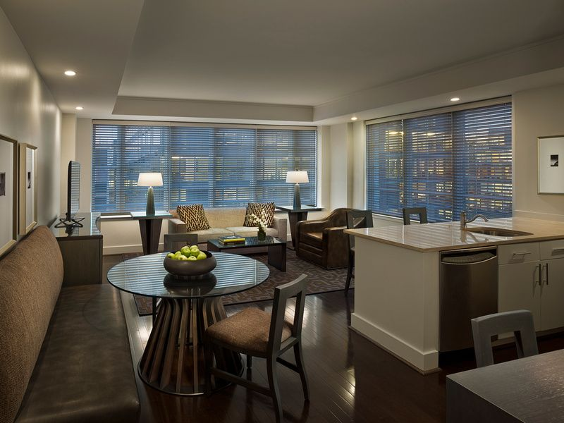These Special Penthouse Suites Feature Warm Brown And Steel Color Palette Incorporated Through Hand Appointed Aka White House Apartment Interior Bedroom Suite