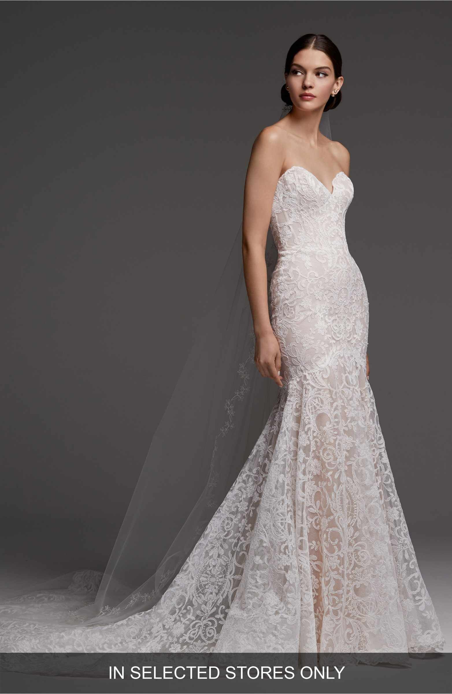 9eba518c70 Main Image - Watters Medici Strapless Lace Mermaid Gown