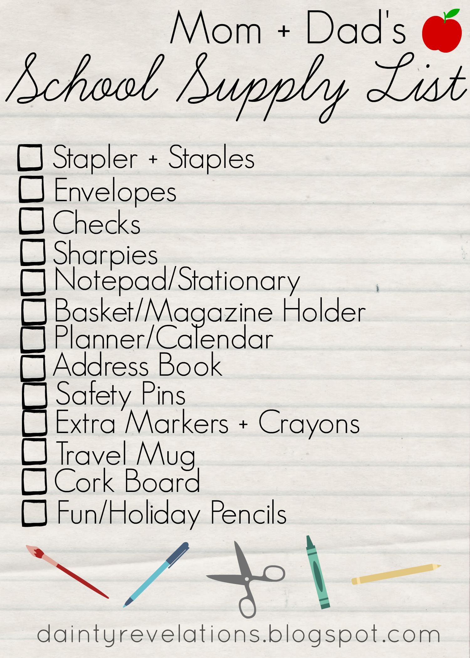 mom   dad u0026 39 s school supply list   you need these 10 things