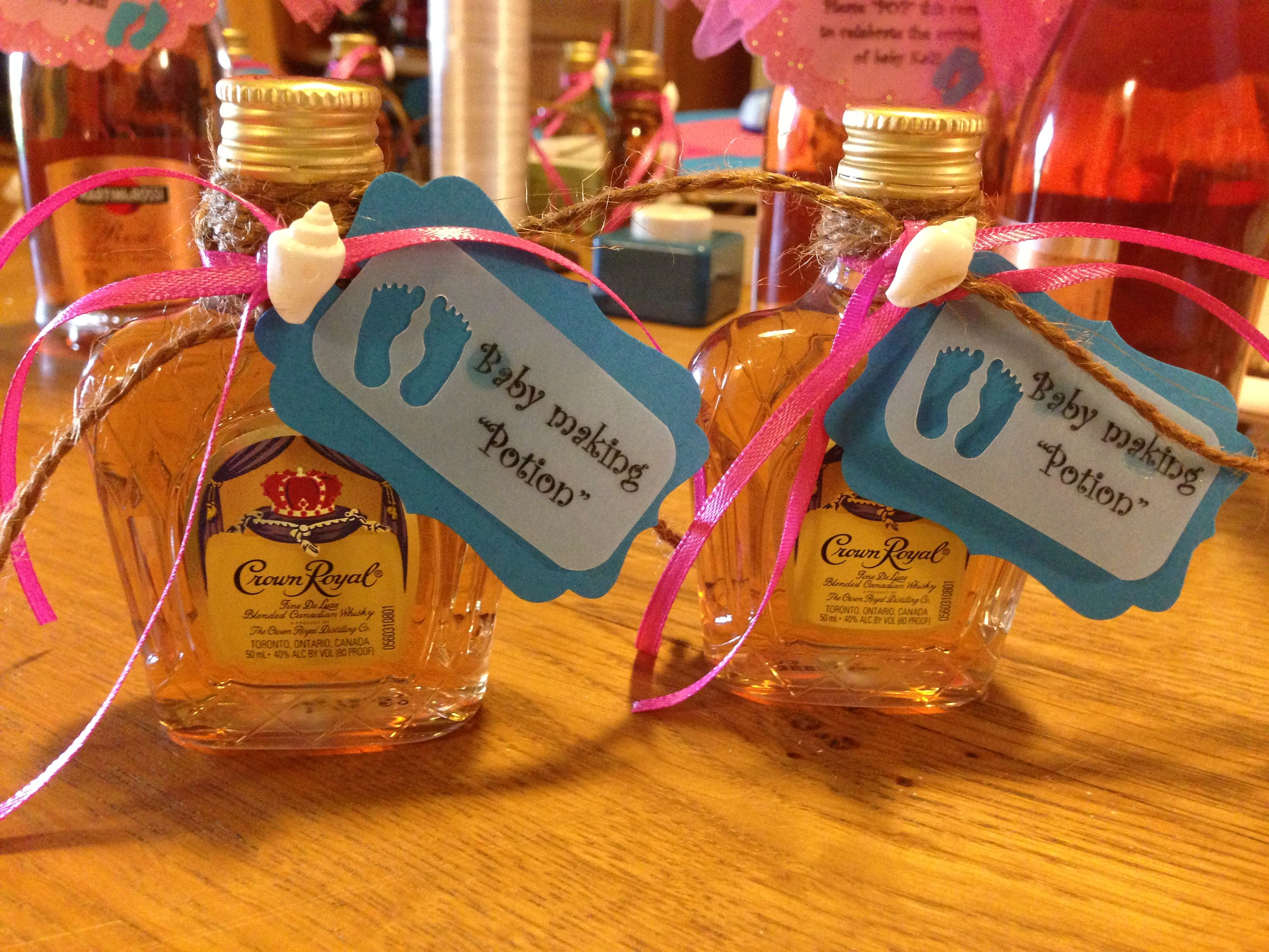 "Ahh love it! Perfect for non-sucky baby showers! ""Baby making potion"" as a thank…"