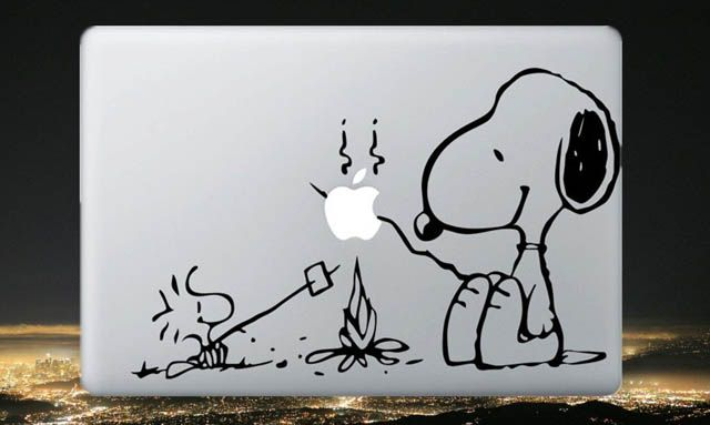 snoopy macbook decal sticker
