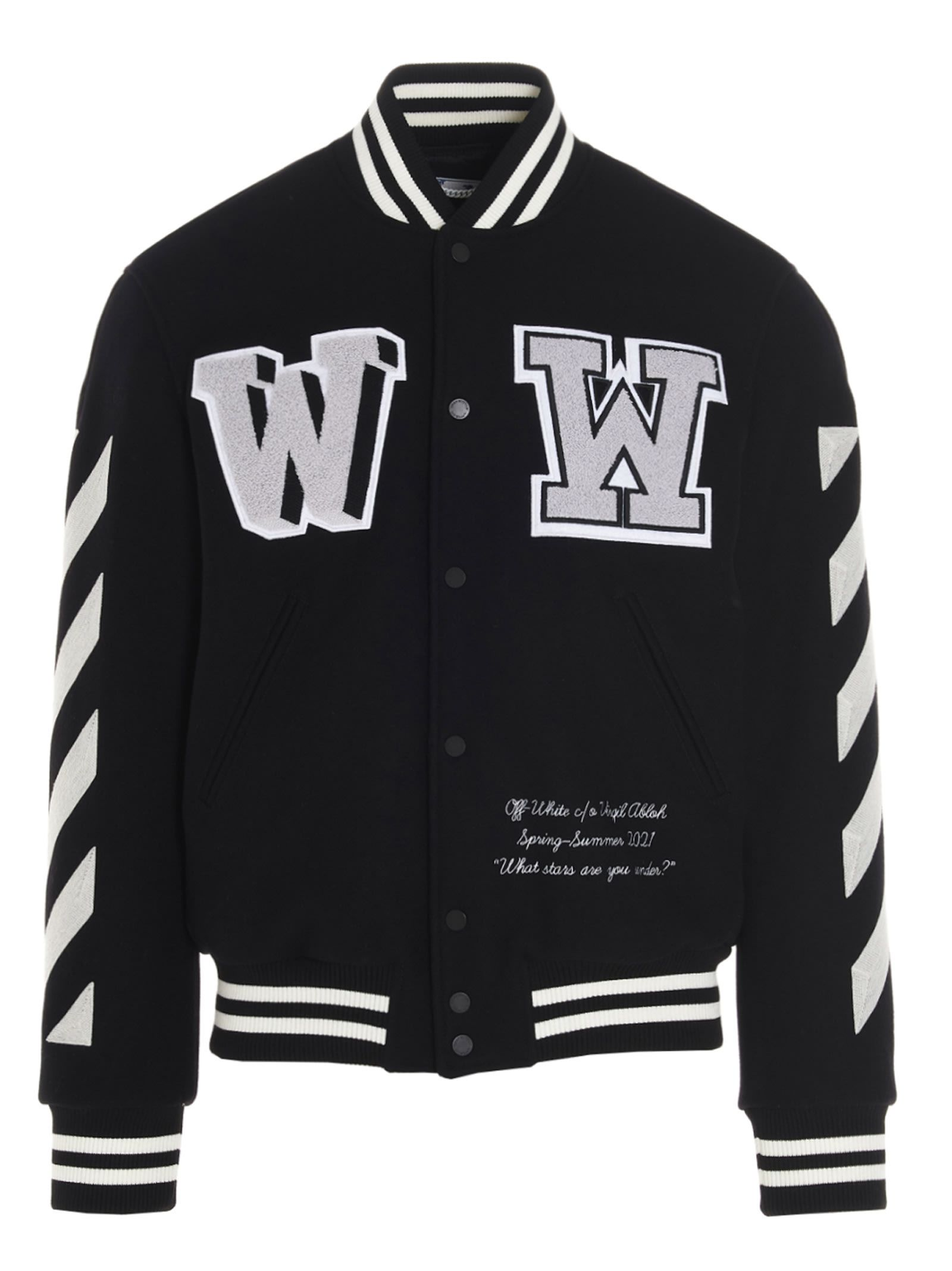 Best Price On The Market At Italist Off White Off White Diag Varsity Jacket Off White Varsity Jacket Varsity Jacket Jackets [ 2136 x 1600 Pixel ]
