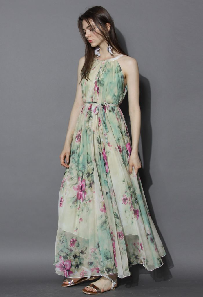 Flower Lullaby Maxi Slip Dress - Dress - Retro, Indie and Unique Fashion