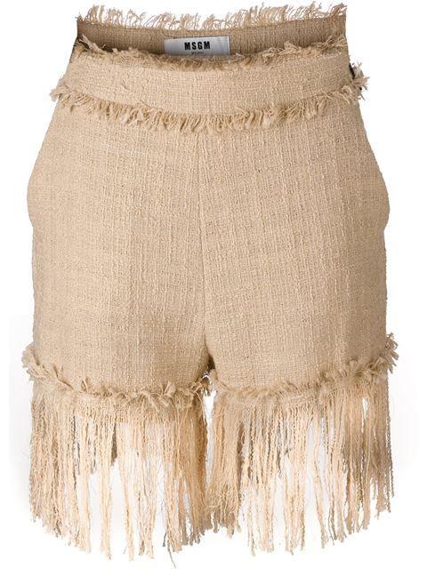 MSGM fringed shorts