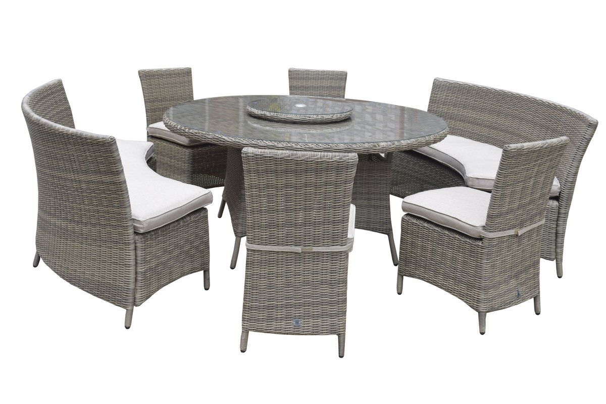 Cara 10 Seater Dining Set With Cushions Outdoor Furniture Sets