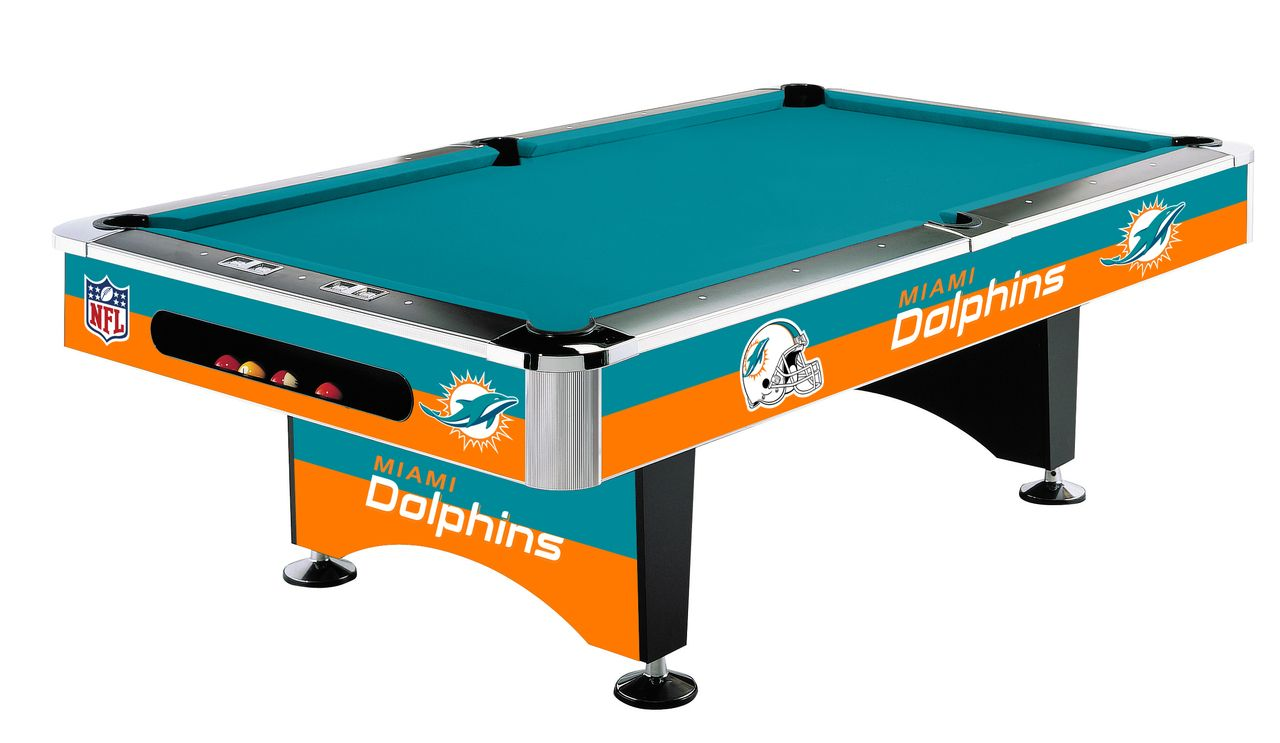 Miami Dolphins NFL Pool Table · 8 PoolTampa Bay ...