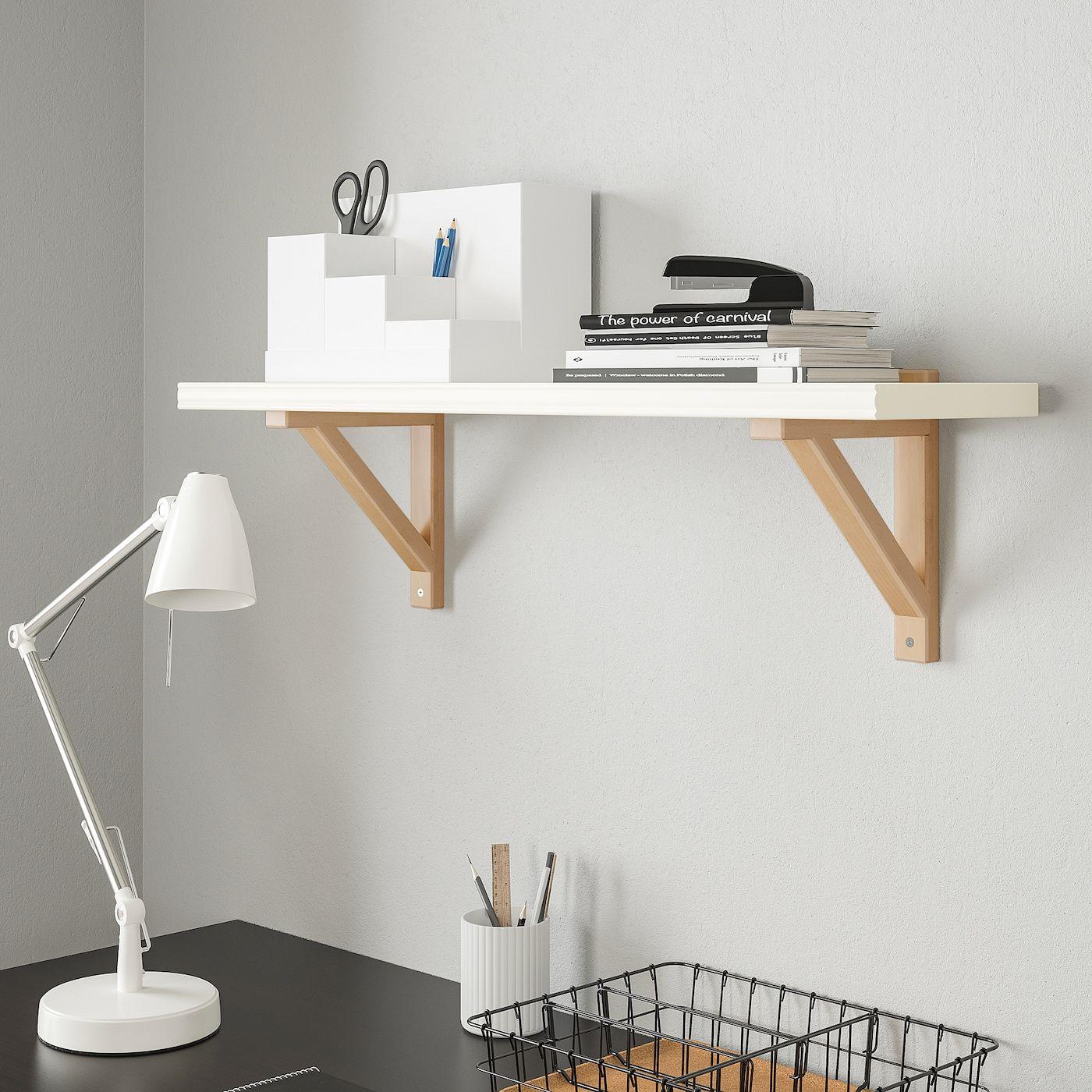 Ikea Bergshult Ekby Valter Wall Shelf White Birch Wall Shelves White Wall Shelves Shelves