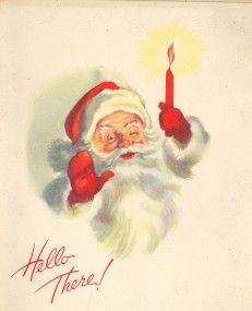 """Hello There"" Santa Claus Vintage Christmas Clip Art"