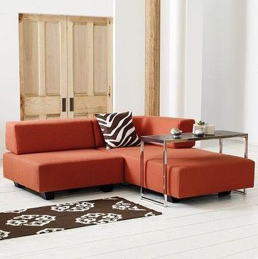 Tillary Modular Sofa   The Trick Is Weighted Back Cushions So No Back Frame