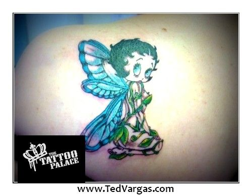 Tattoos betty angel boop wings with