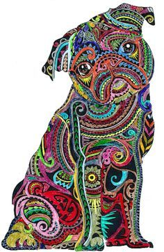 Zentangle Pugs 1000 Images About Tattoo On Pinterest