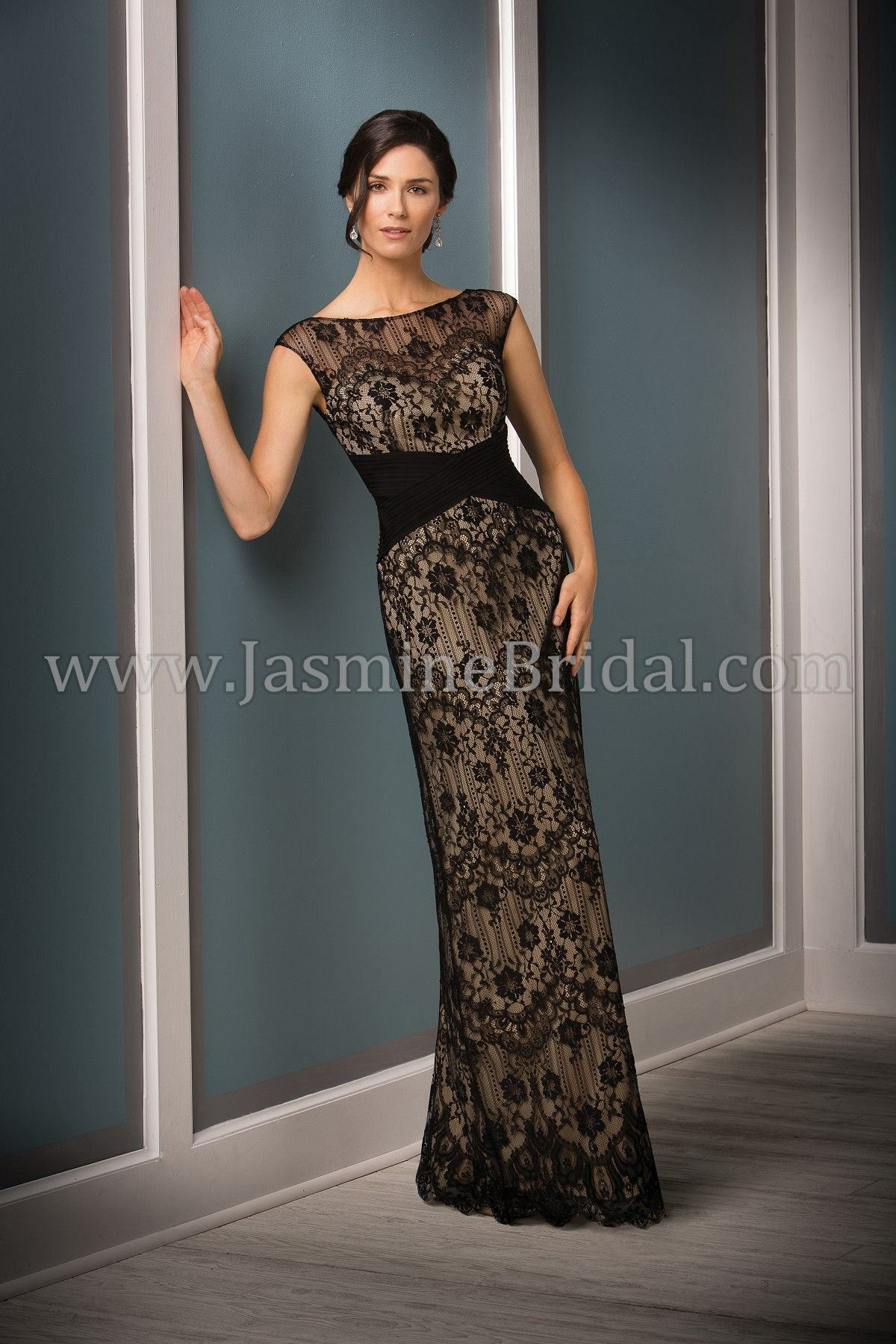 dbb8f8bd126 Jasmine Bridal - Jade Couture Style K188011 in Lace Matte Jersey ...