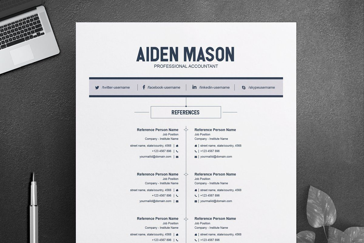 2 Pages Creative Resume Template в 2020 г
