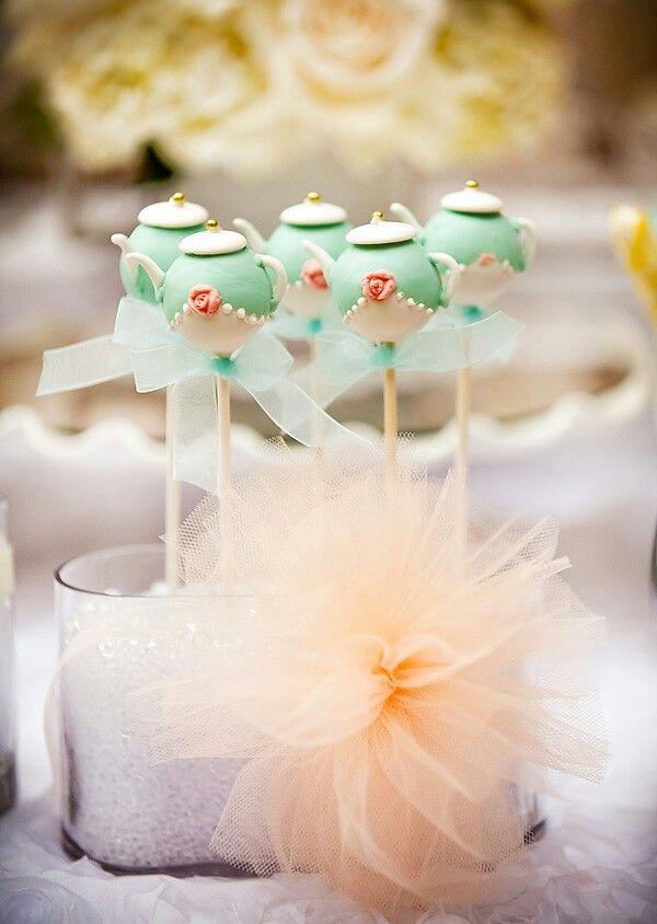 cake pops tea pot themed