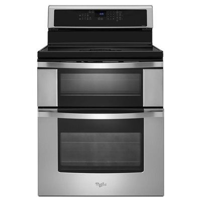 Whirlpool 4 8 Cu Ft Self Cleaning Slide In Electric Range Stainless Steel Wee510s0fs Electric Range Cool Things To Buy Slide In Range